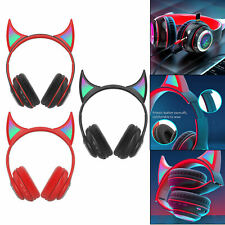 Wireless Headset RGB Light Bluetooth 5.0 Cute for Computer Sport Cell Phones