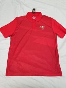 *NEW* NFL Team Apparel Tampa Bay Buccaneers Golf Shirt Men's Sz M Football
