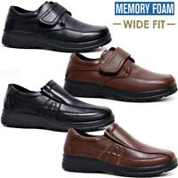 Mens Faux Leather Wide Fit Walking Memory Foam Light Weight Smart Formal Shoes