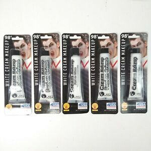 Lot of 5 White Halloween Cream Makeup Face Paint New Sealed