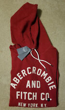 NWT. Abercrombie & Fitch Applique Logo Hoodie 4 colors Available Large