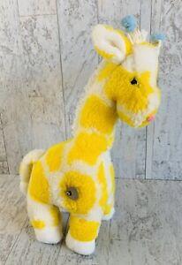Vtg Eden Giraffe Musical Wind Up Baby Toy Works Yellow White