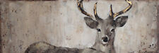 Bilder Wandbild Keilrahmen Ölgemälde 40X 120 cm Hirsch Reh Geweih Jagt Art. 9044