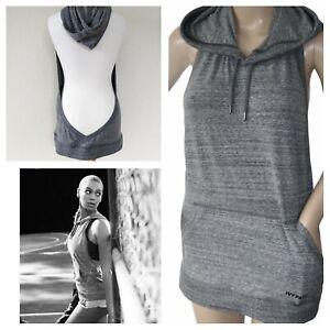 IVY PARK Grey Backless Hoodie Hooded Sleeveless Active Sweatshirt Beyonce XL 14