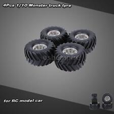 4Pcs/Set 1/10 Monster Truck Tire Tyres for Traxxas HPI Kyosho RC Model Car 3JV0