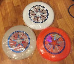 3 DISCRAFT ULTRA STAR Ultimate Frisbee Discs SPORT THROW & CATCH - 175gram NEW