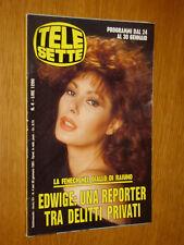 TELESETTE 1993/4=EDWIGE FENECH=CHIARA SANI=JORGE MARTINEZ=LUKE PERRY=FRASSICA N.