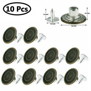10 Sets Metal Jeans Tack Instant Buttons Replacement Kit Repair For Sewing Pants