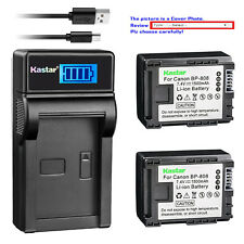 Kastar Battery LCD Charger for Canon BP-808 CG-800 & Canon FS200 Camcorder