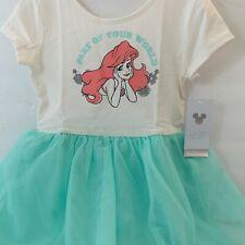 Disney Toddler Girl Dress 4T Little Mermaid Ariel Green Ballerina Tutu Dress New