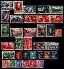 L'ANNÉE 1937 (sauf les 4 Pexip), Neufs * = Cote 259 € / Lot Timbres de France