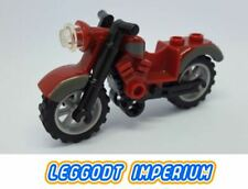 LEGO Motorcycle - Vintage style maroon gray - full assembly dirt bike FREE POST