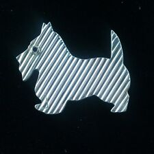 Tiffany & Co. Blue Sapphire Sterling Silver Terrier Dog Brooch Pin