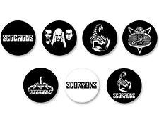Lot Pack Badge Button Ø25mm Scorpions Hard Rock Heavy Metal DE Schenker