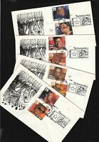 1994 Blues & Jazz Legends Sc 2854-61 set of 4 FDCs plate numbers