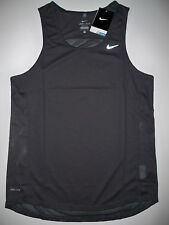 NEW Nike Miler Dri-Fit running singlet men's medium/large M L black tank