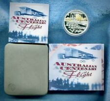 1910-2010 Perth Mint 🇦🇺 Centenary Of Flight 1oz Coloured Silver Proof Coin
