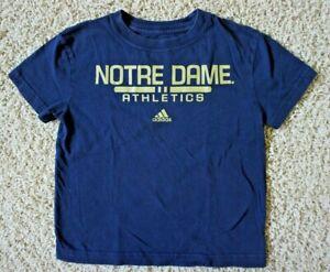 Adidas NOTRE DAME ATHLETICS Navy Gold T-Shirt, Size M (5/6)