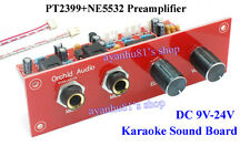 12V PT2399+NE5532 Karaoke Microphone Preamp Amplifier Reverberation Board +Panel