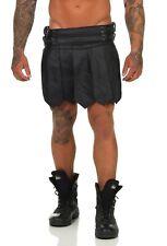 *XL Gladiator Kilt Echt Leder Roman Style 2 Gürtel 4Schnalle Schwarz A leder-joe