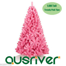 Sale 1.8M 6FT Trendy Pink Christmas Tree Painted Metal Frame PVC Tips PNK180