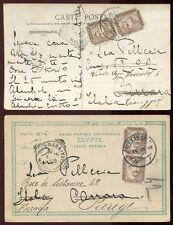 11/Ägypten Egypt 1906 Bildpostkarten (2) nach Italien + Frankreich