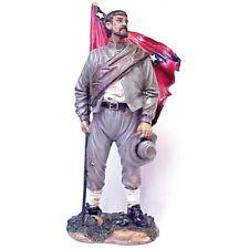 CIVIL WAR CSA SOLDIER HOLDING STARS STRIPES  11-12 INCH HIGH RESIN FIGURINE