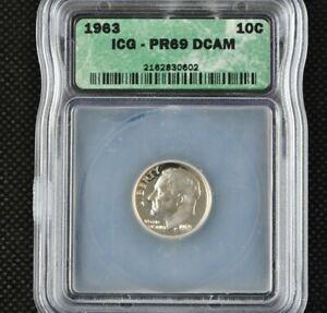 1963 Proof Roosevelt Dime Certified ICG PR 69 DCAM