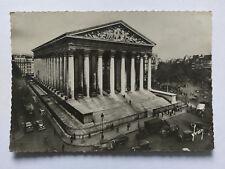 Paris France Vintage B&W Postcard 1939 Eglise de la Madeleine +period cars