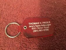 Jerry's Toyota-Volkswagen Baltimore Maryland Advertising Key Chain