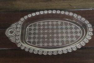 Vintage Davidson Oval Platter dot glass Excellent Condition