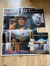 More details for vintage 90s jon bon jovi slippery when wet poster, 2 these days tour programmes