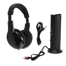 Kopfhörer Funkkopfhörer Headset wireless kabellos Kopfbügel Stereo Schwarz