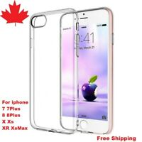 For iPhone 7 7Plus 8 8Plus X XS XR Xs Max Case Clear Thin Soft Back Cover