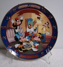 "1942 DISNEY BRADFORD EXCHANGE PLATE ""MICKEY'S BIRTHDAY PARTY"" Minnie & Mickey"