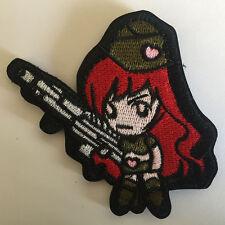 Cartoon Figure Cute Gun Girl Military Tactical Morale Badge Biker Combat Patch