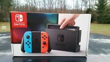 Nintendo Switch Neon Red Blue Joy Con Console System **EMPTY BOX ONLY** EUC