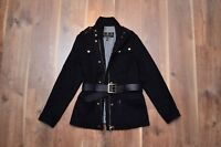 Barbour Women's Alternator Black Wool Cashmere Jacket Mint US8 UK12 (rrp450$)
