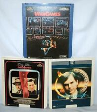 3 CED WAR GAMES 1983, TRUE CONFESSIONS 1982, THE FINAL CONFLICT 1982