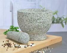 XXL Mörser mit Stößel Granit Granitmörser Gewürzmühle  Gewürze  Küche Ø 15 cm