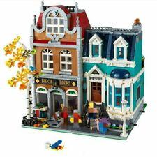 City Building Blocks Sets Schöpfer 10201 The Bookshop Store Street Modell/kinder