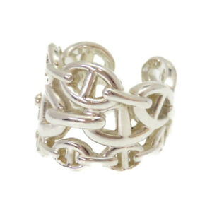 AUTHENTIC HERMES Anchene Ring Silver925 53Size 0252