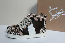 New sz 7 / 37.5 Christian Louboutin Rantus Orlato Leopard Printed Sneaker Shoes