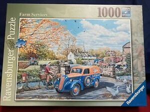 RAVENSBURGER 1000 PIECE JIGSAW PUZZLE FARM SERVICES completed once from new