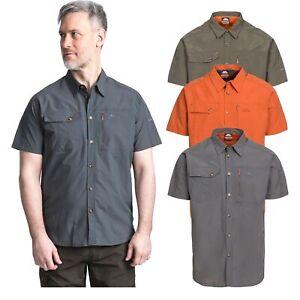 Trespass Lowrel Men's Short Sleeve Mosquito Repellent Shirt Summer Hiking Top