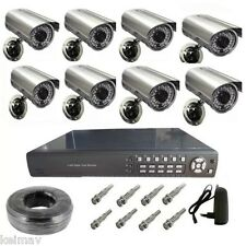 8ch CCTV Camera Package (Silver/Black)