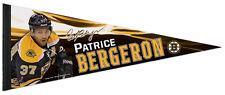 PATRICE BERGERON Boston Bruins Signature Series Premium NHL Felt Pennant