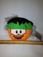 Club Penguin Orange Frankenstein Puffle Plush w Coin code Happy Frankenpenguin