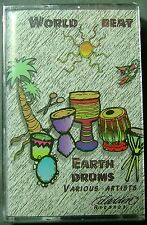 World Beat: Earth Drums:  Compilation  (Cassette, 1995, Aladdin Records) NEW