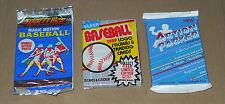 26 Vintage Cards THREE Unopened PACKS - 2 Baseball 1989/90, 1 Football 1989